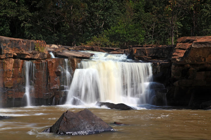 Waterfall Tadtone In Climate Forest Stock Images