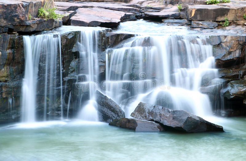 Download Waterfall Tadtone In Climate Forest Of Thailand Stock Photo - Image: 25849690