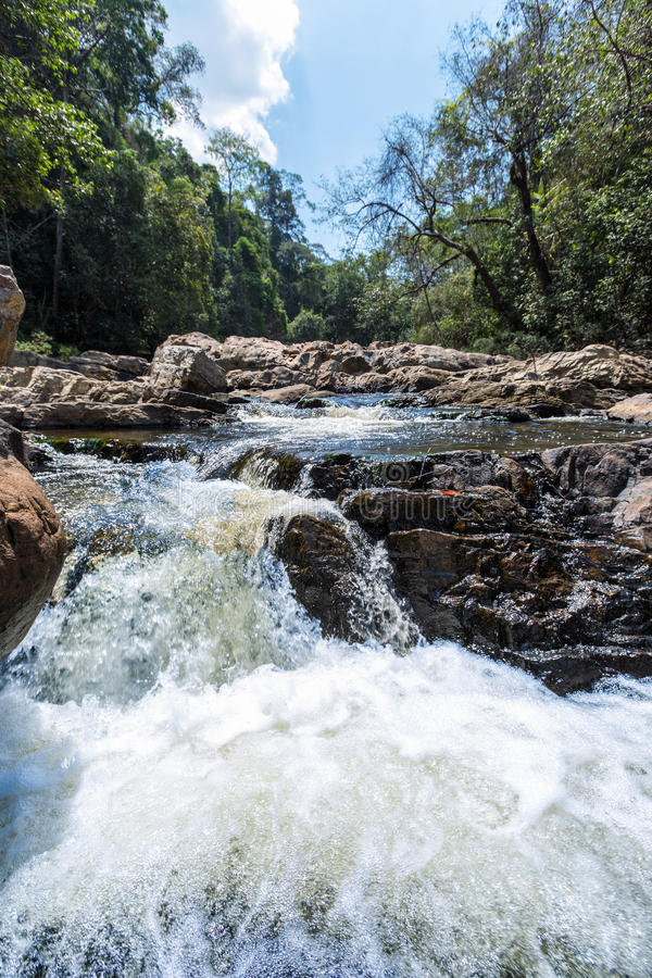 Waterfall in the Taman Negara Nationalpark royalty free stock images