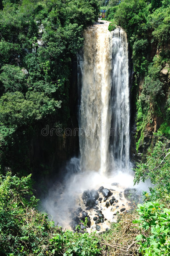 Waterfall In  Tanzania Royalty Free Stock Images