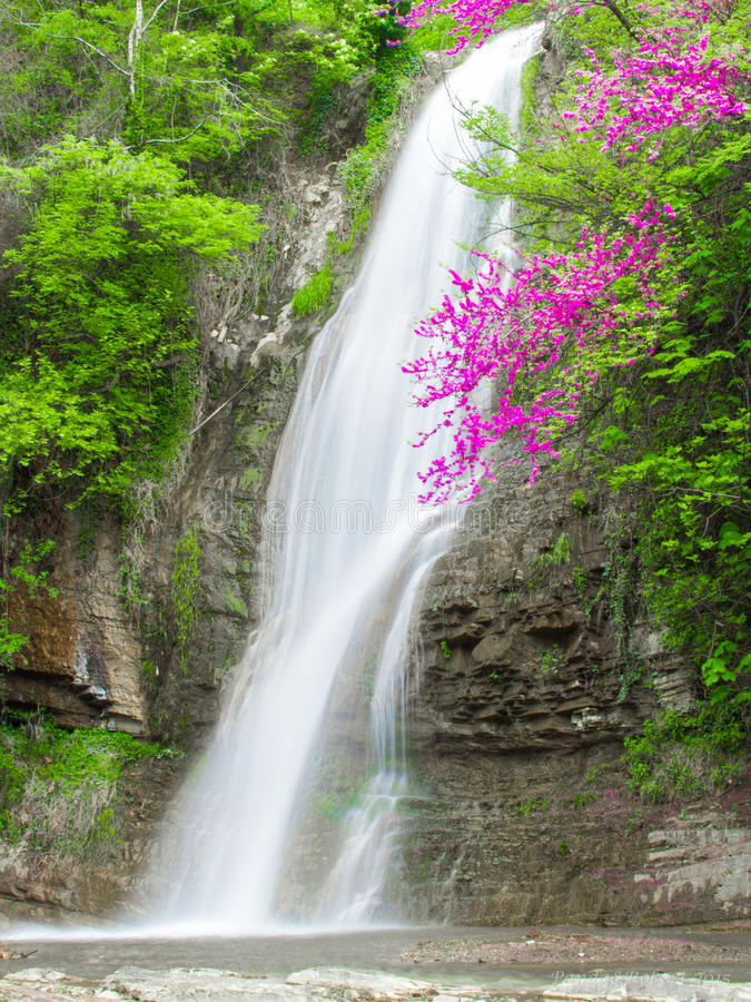 Waterfall in Tbilishi royalty free stock photography