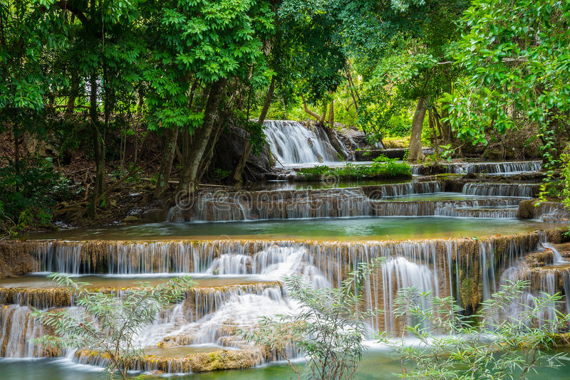 Waterfall in Thailand royalty free stock images