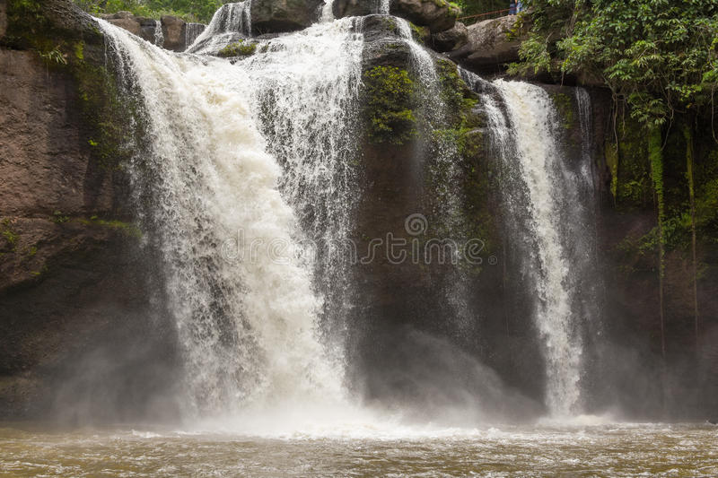 Waterfall of Thailand. stock images