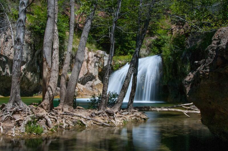 Waterfall Trail on Fossil Creek stock photos