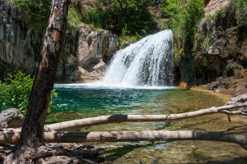 Waterfall Trail on Fossil Creek royalty free stock image