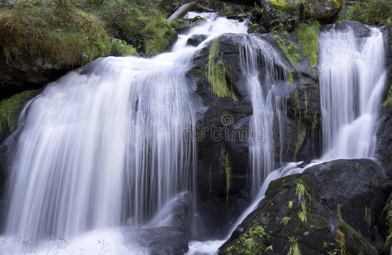 Waterfall, Triberg, Black Forest, Germany. Flowing motion of Waterfall, Triberg, Black Forest, Germany royalty free stock photography