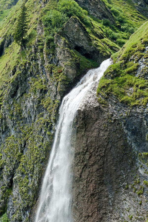 Waterfall In The Tyrolean Alps Royalty Free Stock Images