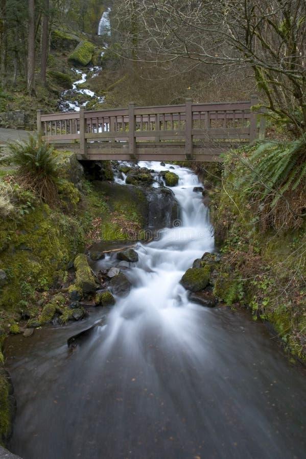 Waterfall Under Bridge Royalty Free Stock Photo