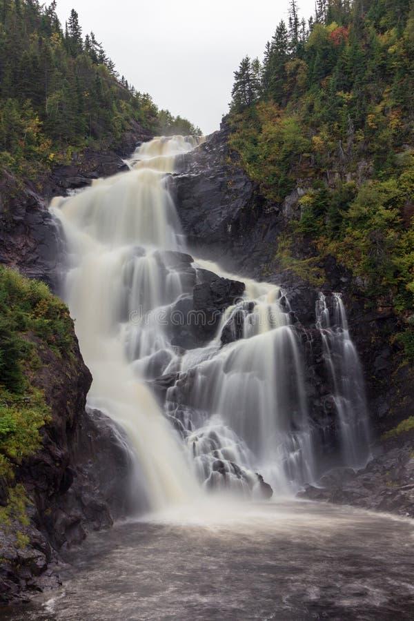 Waterfall of Val Jalbert in Canada. Beautiful Waterfall of Val Jalbert in Canada stock images