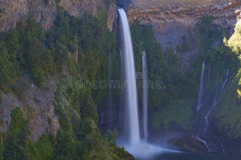 Waterfall Velo de la Novia - Maule, Chili photos stock