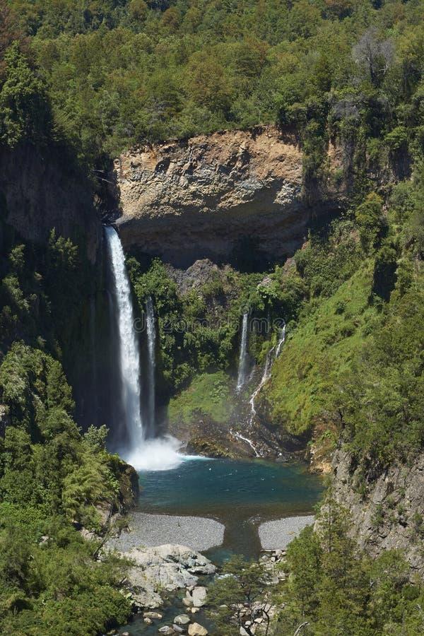 Waterfall Velo de la Novia - Maule, Chili photo libre de droits