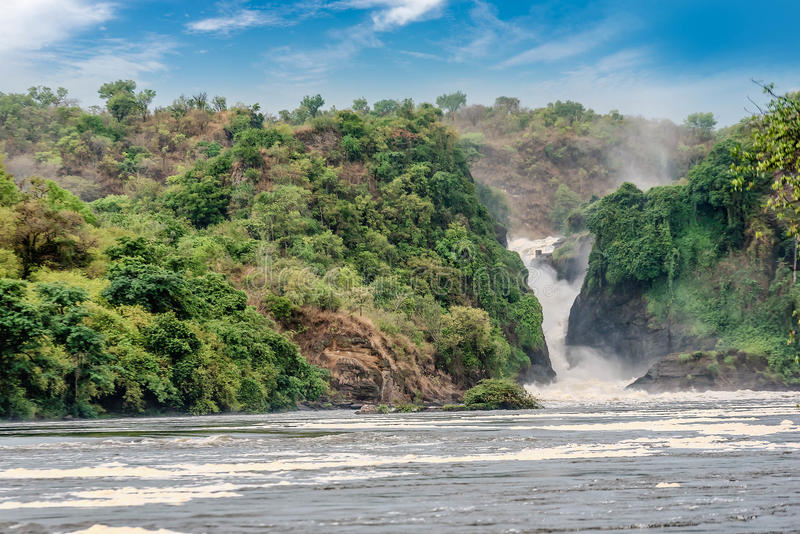 The Waterfall on the Victoria Nile river,Uganda royalty free stock images
