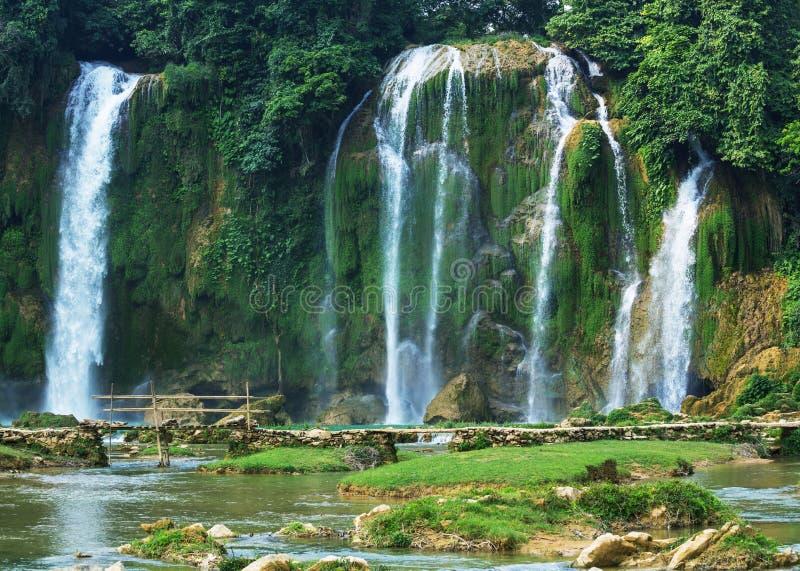 Waterfall In Vietnam Royalty Free Stock Photos
