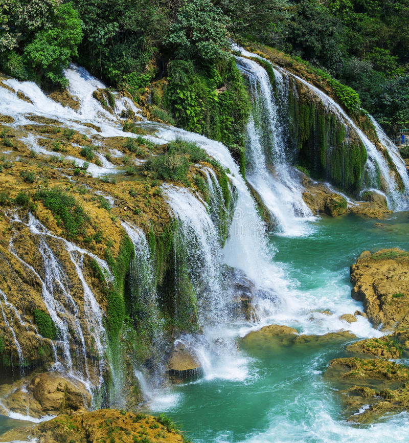 Download Waterfall in Vietnam stock image. Image of nature, environment - 32008191