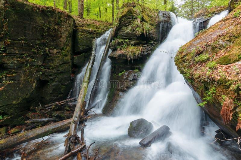 Waterfall Voievodyn of ukrainian carpathians stock photography