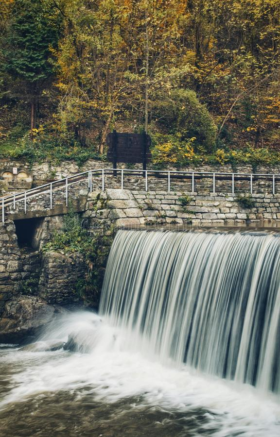 Waterfall in Vucje .Serbia stock photography