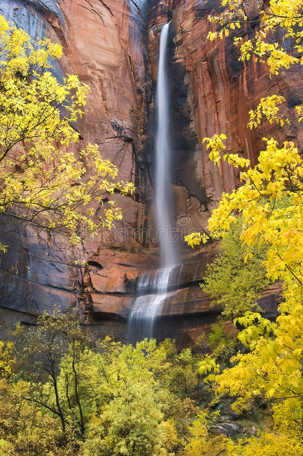 Waterfall at Weeping Rock royalty free stock photo