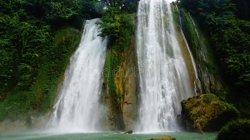 Waterfall at West java Indonesia stock images