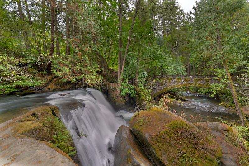 Beside the Waterfall in Whatcom Falls Park in Washington State USA. Beside the waterfall in Whatcom Falls Park in Bellingham Washington State USA America stock photos