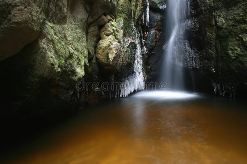 Download Waterfall in winter stock photo. Image of colors, moving - 1709096