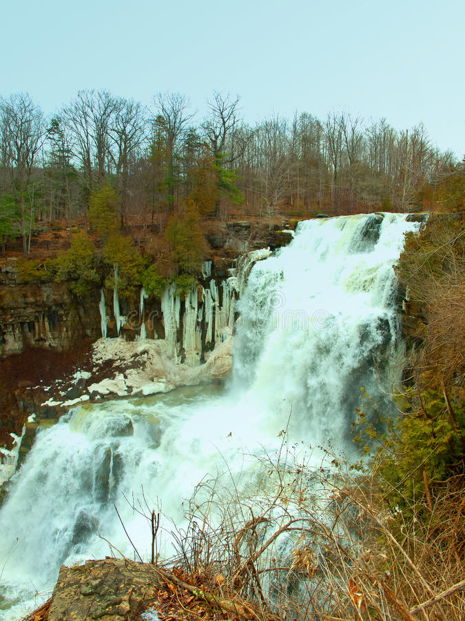 Download Waterfall In Winter Stock Photo - Image: 28511620