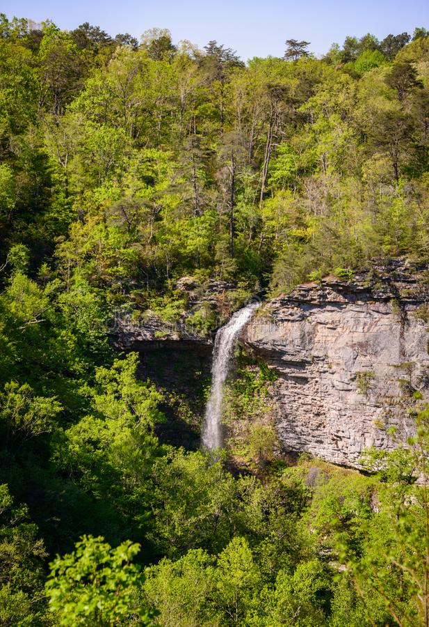Waterfall and The Woods of Little River Canyon National Preserve stock photos