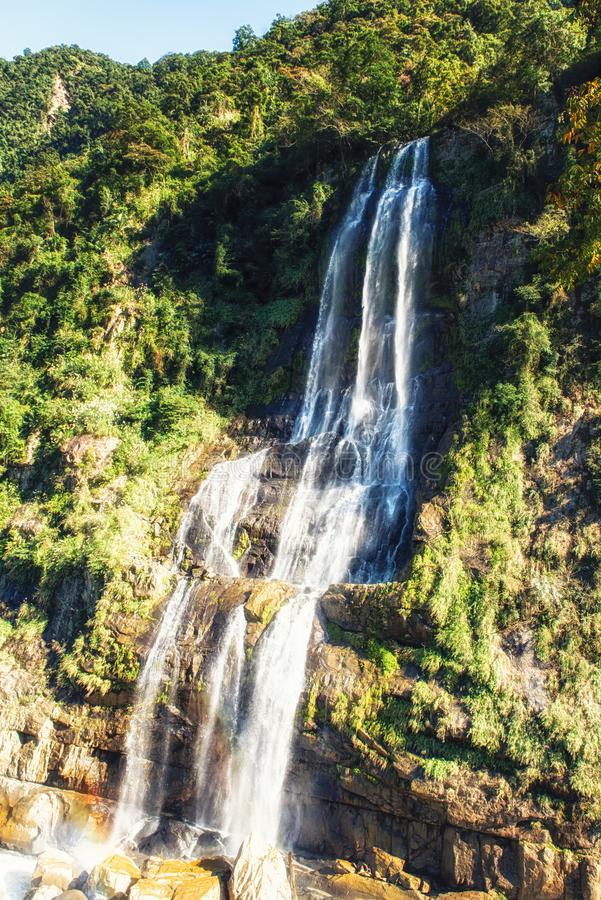 Waterfall in Wulai District, Taiwan stock photos