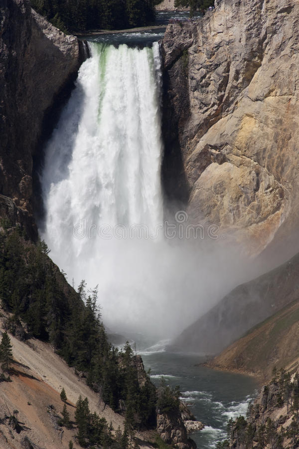 Waterfall in Yellowstone National Park stock image