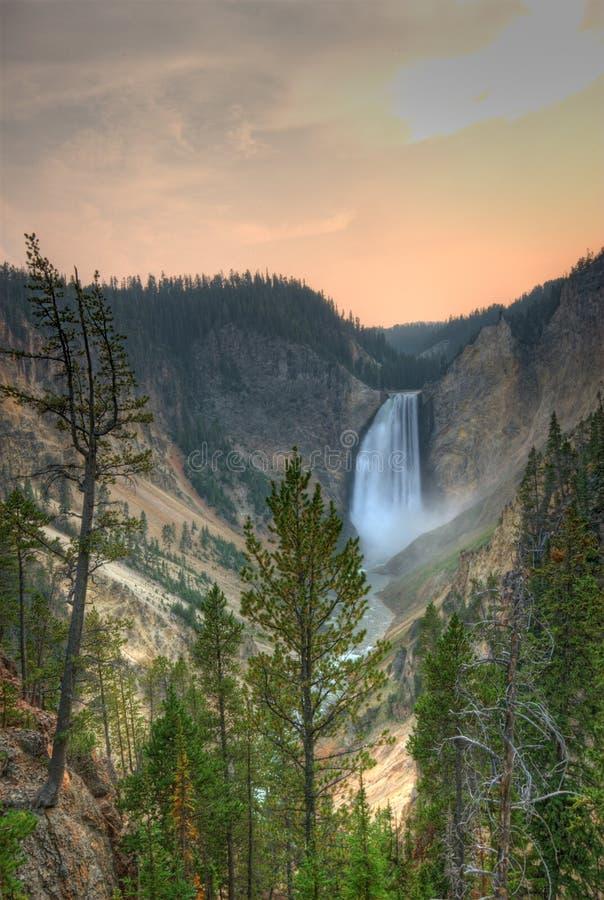 Free Waterfall. Yeloowstone NP. Royalty Free Stock Photos - 3522068
