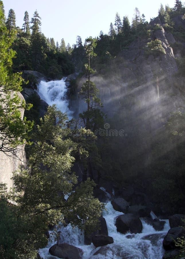 Waterfall in Yosemite stock images