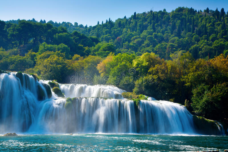 Download Waterfalls stock image. Image of landscape, water, waterfall - 12242155