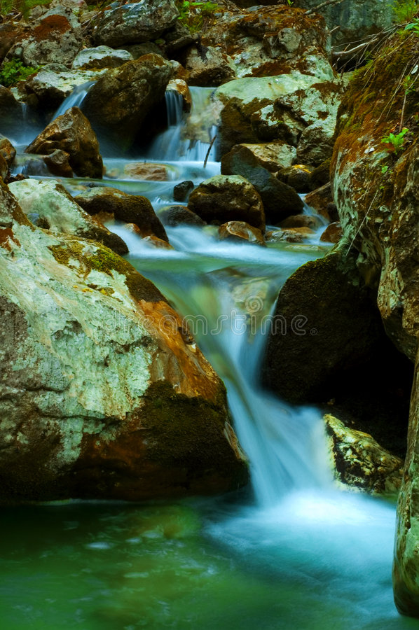 Download Waterfalls stock photo. Image of blur, forest, blurry, falling - 746390