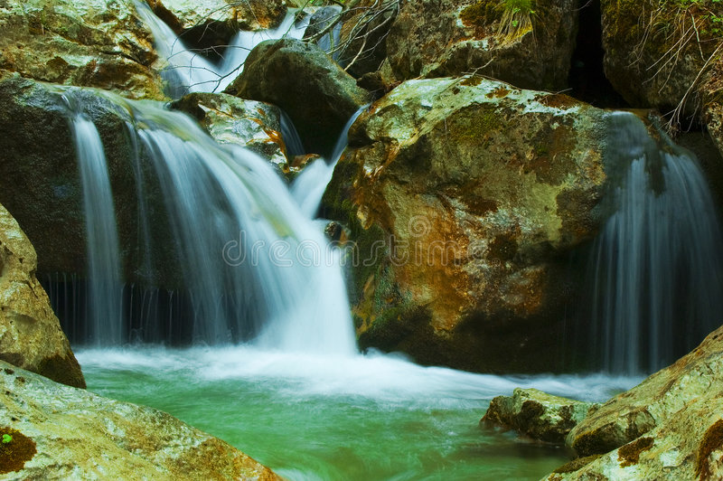Download Waterfalls stock image. Image of blurry, flowers, blur - 746395