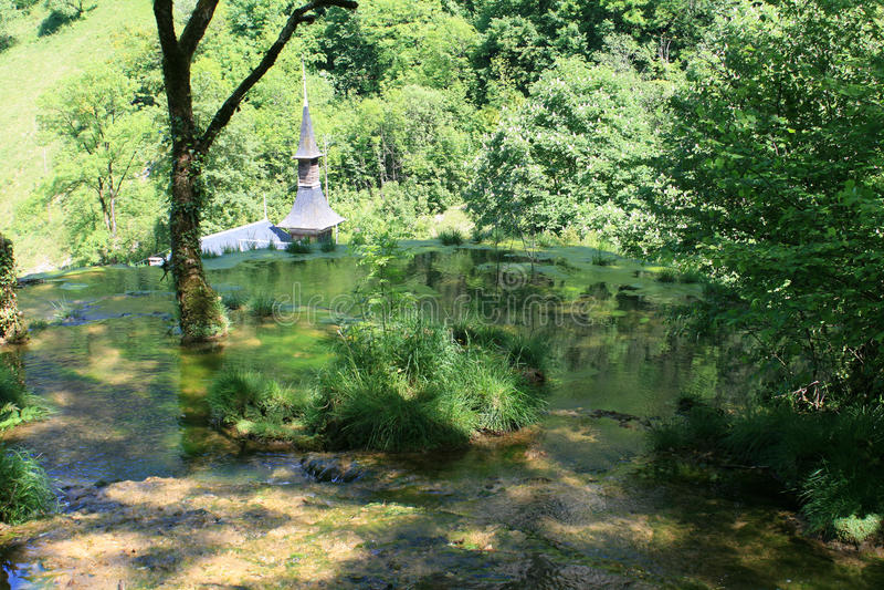 Waterfalls of Baume-les-Messieurs royalty free stock image
