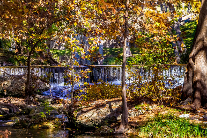 Waterfalls and Beautiful Fall Foliage Surrounding the Guadalupe River, Texas. Waterfalls and Beautiful Fall Foliage Surrounding the Crystal Clear Guadalupe stock photos
