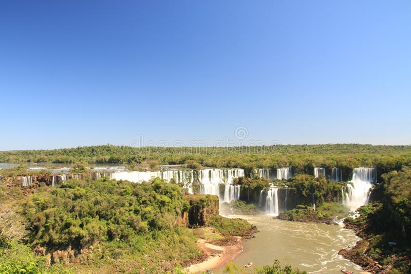 Waterfalls in Brasil 3. Amazing waterfalls in Brasil will charm any traveler royalty free stock photo