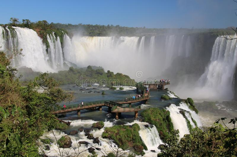 Waterfalls in Brasil. Amazing waterfalls in Brasil will charm any traveler stock photography