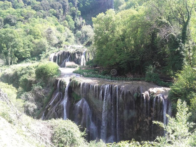 Waterfalls cascate delle marmore italy umbia land nature water stock photo