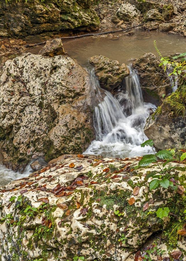 Waterfalls of the creek Rufabgo royalty free stock photo