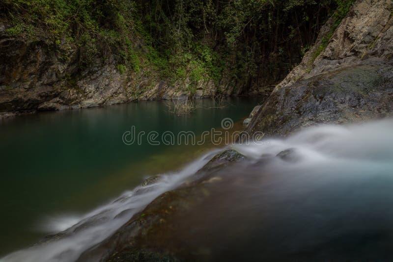 Waterfalls El Ataud in Puerto Rico royalty free stock images