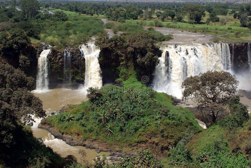 Waterfalls in Ethiopia stock photos