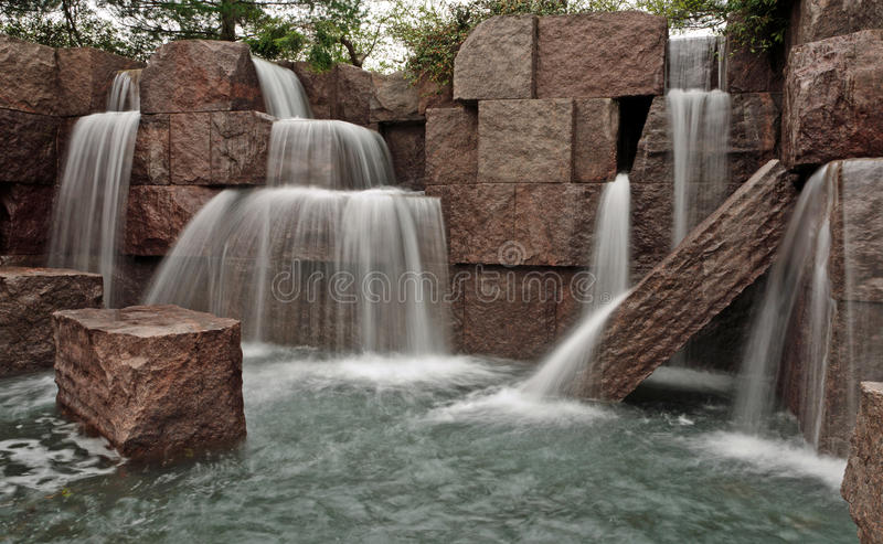 Download Waterfalls at FDR Memorial stock image. Image of monument - 24126957