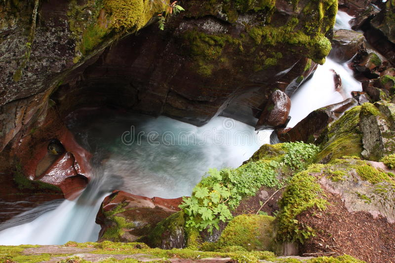 Download Waterfalls In Glacier National Park Stock Image - Image: 22918409