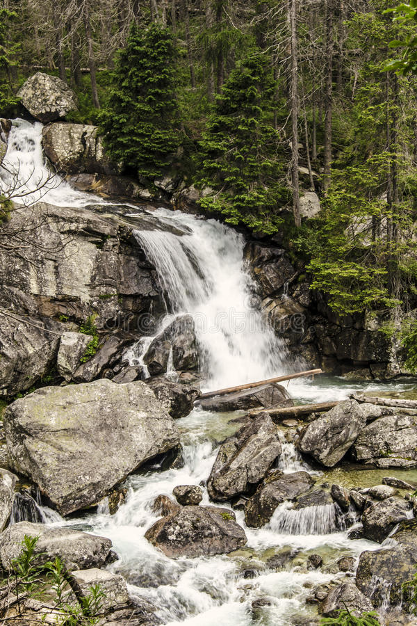 Download Waterfalls in High Tatras stock image. Image of landscapes - 33242881
