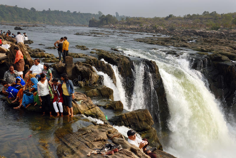 Waterfalls in India royalty free stock image