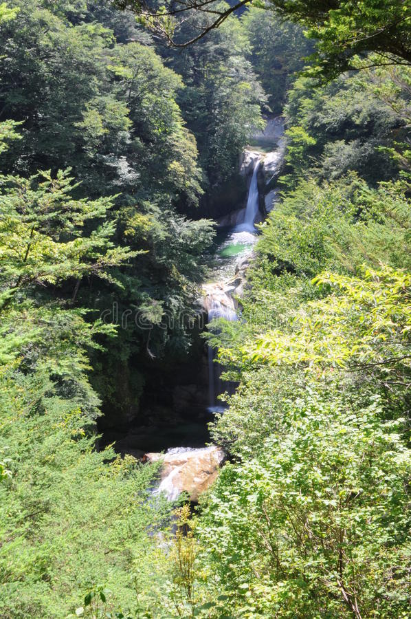 Waterfalls in japan stock images