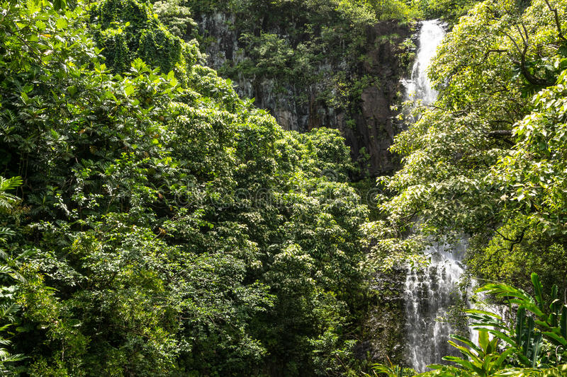Waterfalls in Kipahulu, Maui royalty free stock image