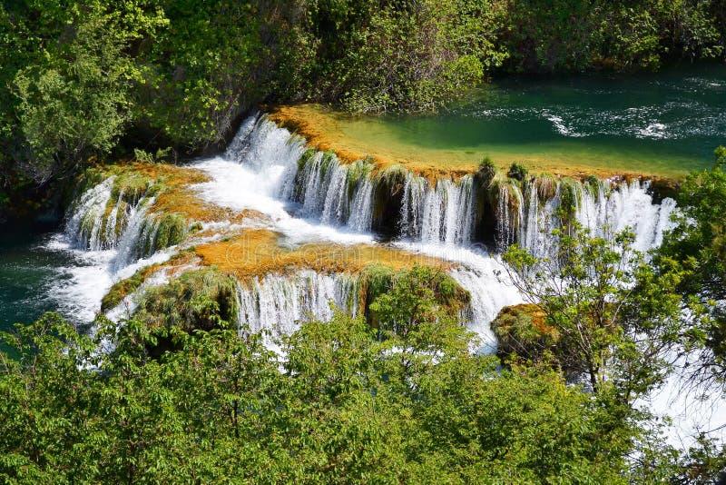 Waterfalls On Krka River. National Park, Croatia Stock Photography