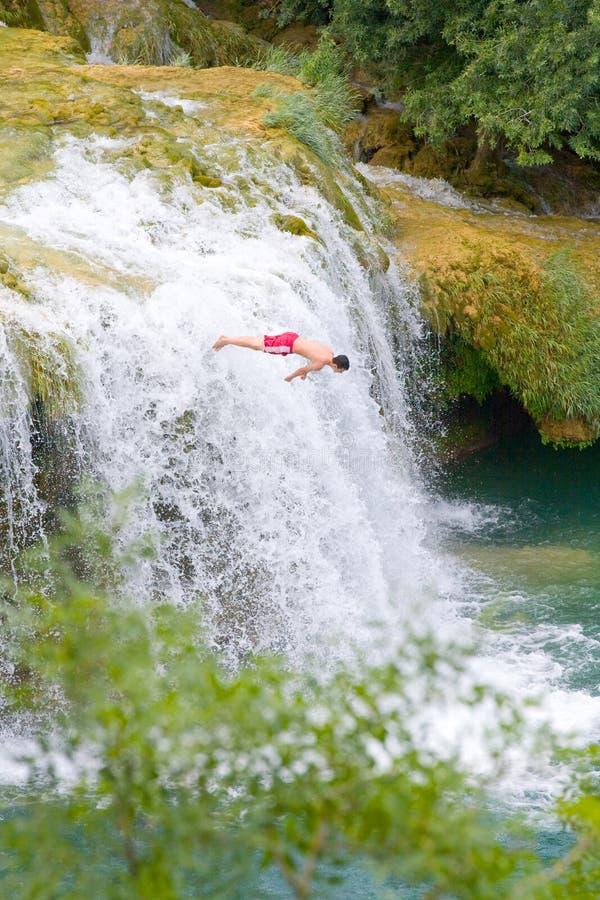 Waterfalls on Krka River. National Park, Dalmatia, Croatia royalty free stock image