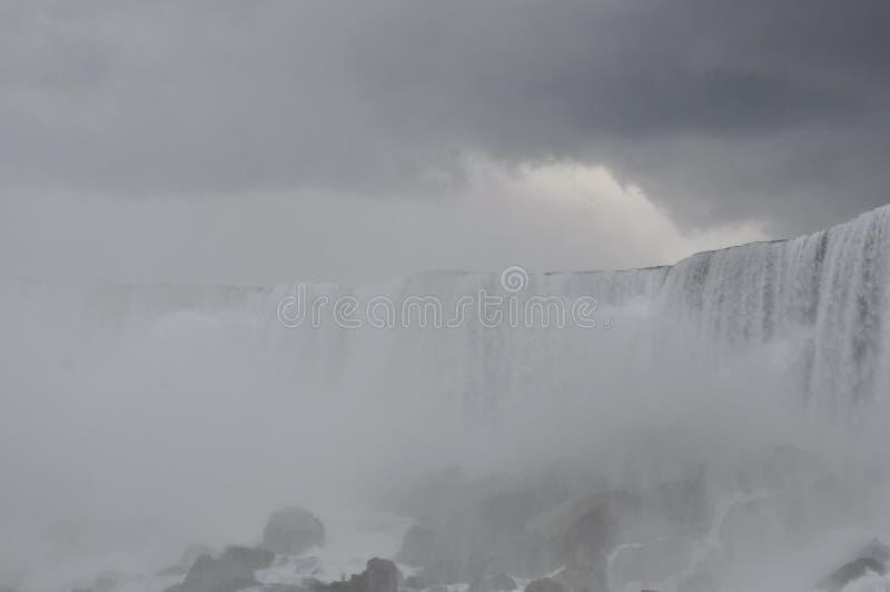 Niagara Falls landscape with a dramatic sky royalty free stock photo